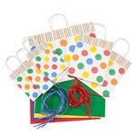 Polka Dots Gift Bags, Set of 40