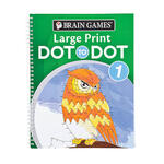 Brain Games® Large Print Dot to Dot Version 1 Owl Cover