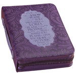 Purple Bible Cover - Jeremiah 29:11