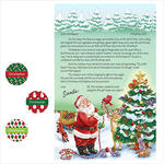 Personalized Christmas letter from Santa with Stickers