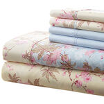 Hotel 5th Ave. 90GSM 6pc Microfiber Sheets, Blue Floral