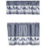 Barnyard Rooster Tier and Valance Set