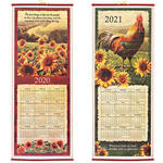 Rooster and Sunflowers Scroll Calendar