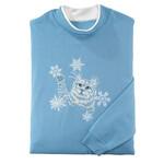 Kitten With Snowflakes Sweatshirt by Sawyer Creek Studio™