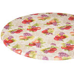 Harvest Fruit Vinyl Elasticized Table Cover
