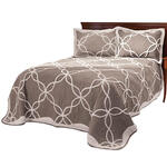 Sophie Tufted Quilt/Sham Twin Taupe by OakRidge™