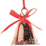 Personalized Rose Gold Bell Ornament