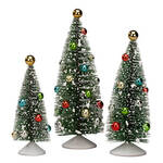 Nostalgic Christmas Trees, Set of 3