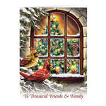 Personalized Treasured Friends Christmas Cards, Set of 20