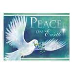 Personalized Peace Dove Christmas Cards, Set of 20