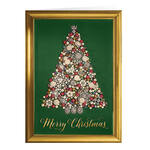 Personalized Glittering Tree Christmas Cards, Set of 20
