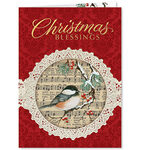 Christmas Chickadee Christmas Card Set of 20