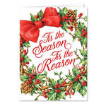 Personalized 'Tis the Season Christmas Cards, Set of 20