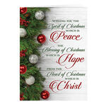 Personalized Peace, Hope, Christ Christmas Cards, Set of 20