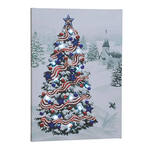Patriotic Tree Lighted Canvas by Holiday Peak™