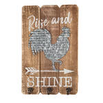 Rise and Shine Rooster Wall Decor