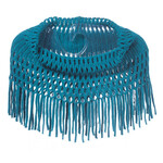 Britts Knits™ Open Weave Infinity Scarf W/Fringe