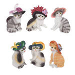 Cats with Hats Magnets - Set of 6