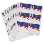 Personalized Flags Mailing Labels