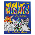 Animal Lover's Mosaics Color-By-Number Book