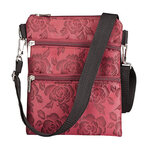 Rose Patterned Crossbody Bag
