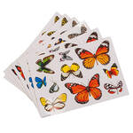 Window Butterfly Stickers, Set of 60