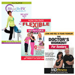 Sit and Be Fit, Flexible Seniors and Doctor's Workout DVDs, Set of 3