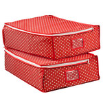Fabric Zipper Storage Bags, 2-Pack by LivingSURE™