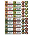 Personalized Rooster & Hens Address Labels & Envelope Seals, Set of 60