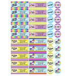 Personalized Colorful Celebrations Labels and Envelope Seals, Set of 60