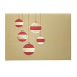 Golden Cascade Ornaments Christmas Card Set 18
