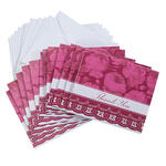 Floral Lace Thank You Cards Set of 12