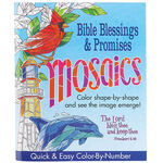 Mosaics Color-By-Number Bible Blessings & Promises Book