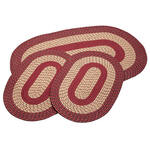 Burgundy 3-pc. Two-Tone Braided Rug Set by OakRidge™