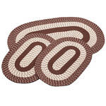 Chocolate 3-Piece Two-Tone Braided Rug Set by OakRidge™