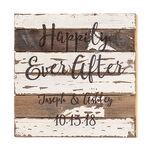 Personalized Happily Ever After Reclaimed Wood Sign