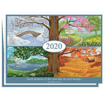 Personalized Four Seasons Calendar Christmas Card Set of 20