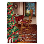 Personalized The Empty Chair Christmas Card Set of 20