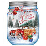 Merry Mason Jar Christmas Card Set of 20