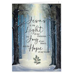 Personalized He is the Light Christmas Card Set of 20