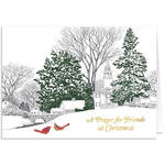 A Prayer for Friends w/Bookmark Christmas Card Set of 20