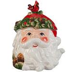 Holiday Santa Cookie & Treat Jar