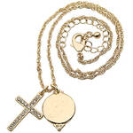 Personalized Pavé Crystal Cross Necklace