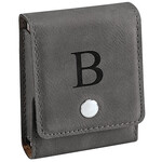 Personalized Leather Card Holder and Cards