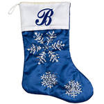 Personalized Frosted Snowflake Stocking by Holiday Peak™