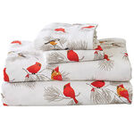 Cardinal and Chickadee Flannel Sheet Set by OakRidge™