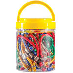 20-Piece Mini Bungee Cord Set in Organizer Jar