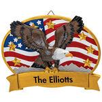 Personalized Patriotic Eagle Plaque