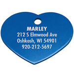 Personalized Heart-Shaped Pet Tag