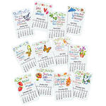 12-Month Calendar Magnet Set